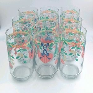 VTG Heart & Flowers Drinking Glasses